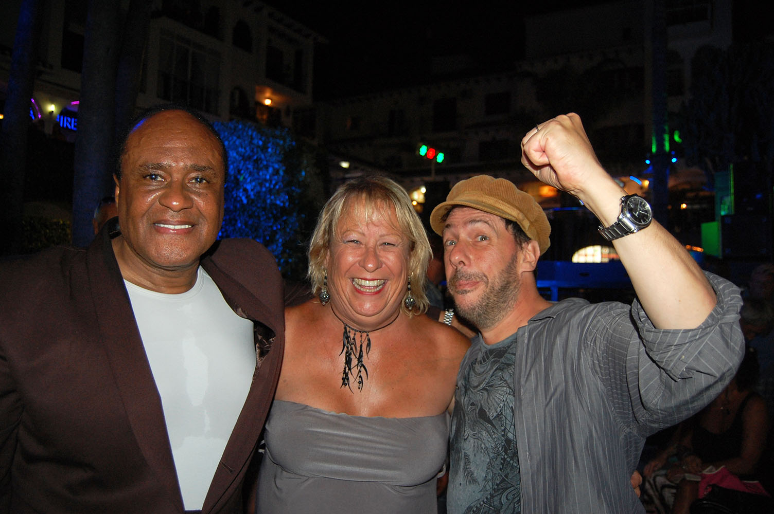 Ray Lewis with Rob Falsini and Casey Shaddock