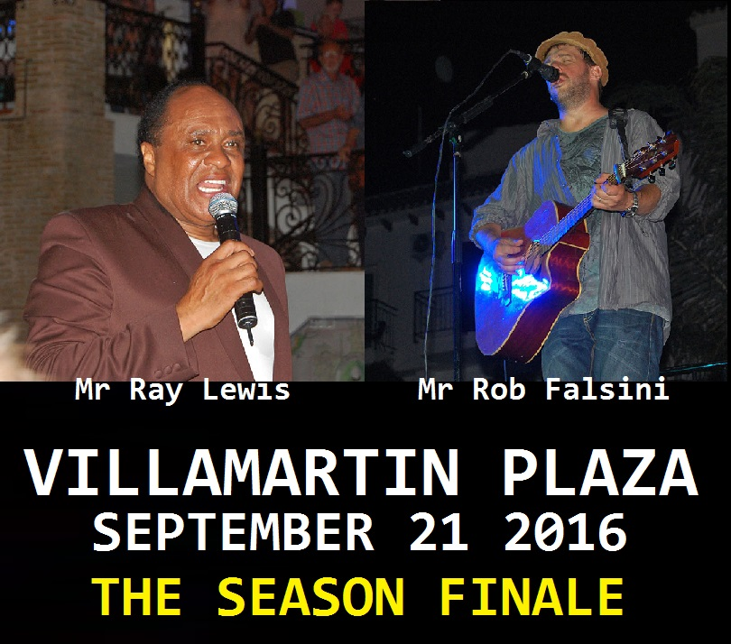 Ray Lewis and Rob Falsini in the Villamartin Plaza