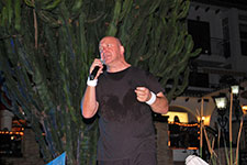 Rob Lewis Phil Collins tribute at Villamartin Plaza Orihuela Costa Blanca Spain 2016