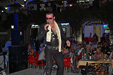 Nigel Burchill as Elvis at Villamartin Plaza Orihuela Costa Blanca Spain 2016