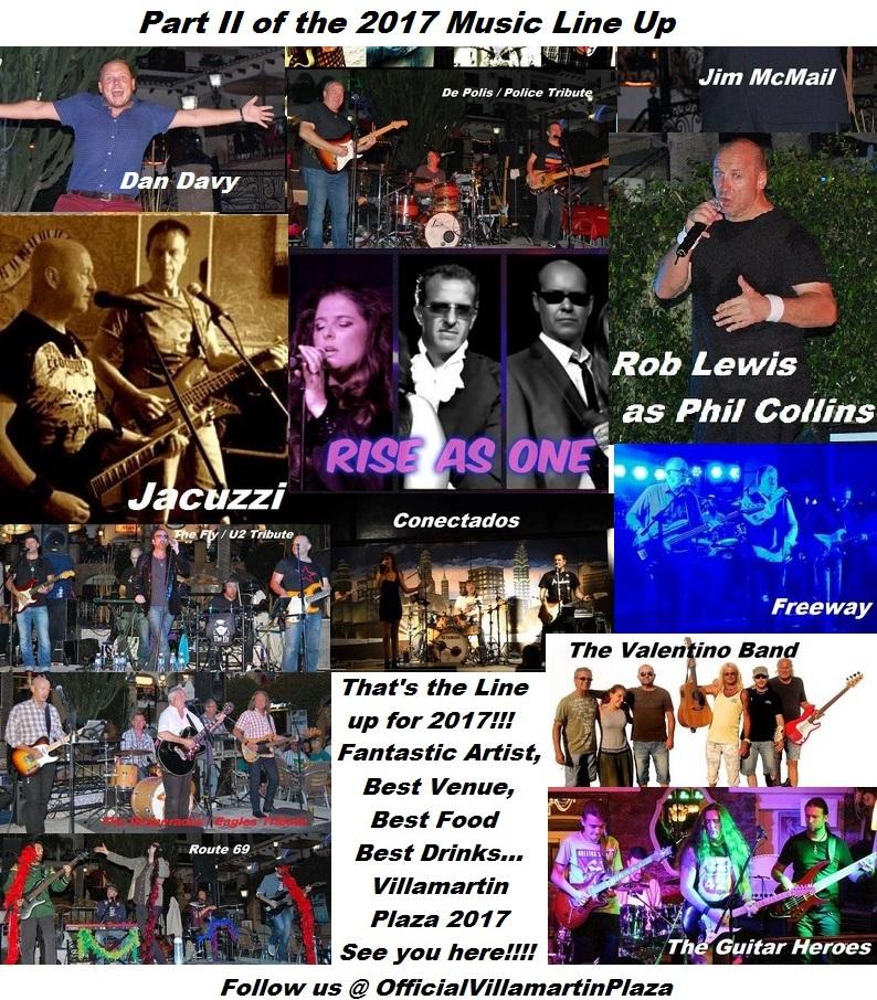 Villamartin Plaza Music line up for 2017