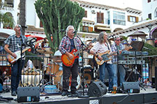 Desperados The Eagles Tribute Villamartin Plaza Orihuela Costa Blanca Spain live outdoor concert music entertainment 2017