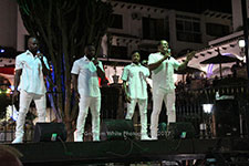 Ray Lewis The Drifters Villamartin Plaza Orihuela Costa Blanca Spain live outdoor concert music entertainment 2017
