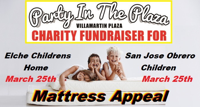 Charity 2018 Mattress Appeal Villamartin Plaza