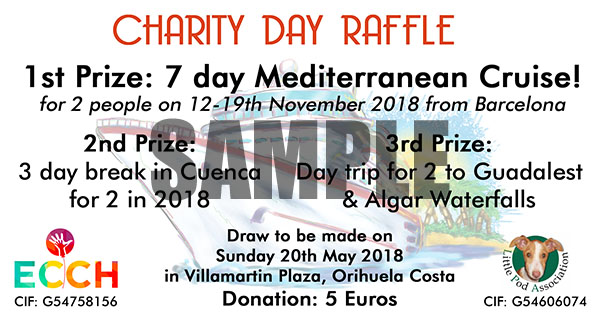 May 2018 Special Charity Raffle at Villamartin Plaza